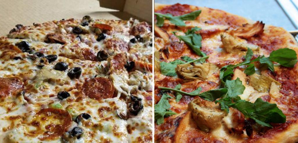 Italian Pizza and American Pizza